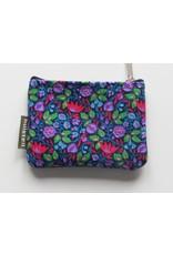 Huisteil Kleine vintage portemonnee - blauwe bloemen