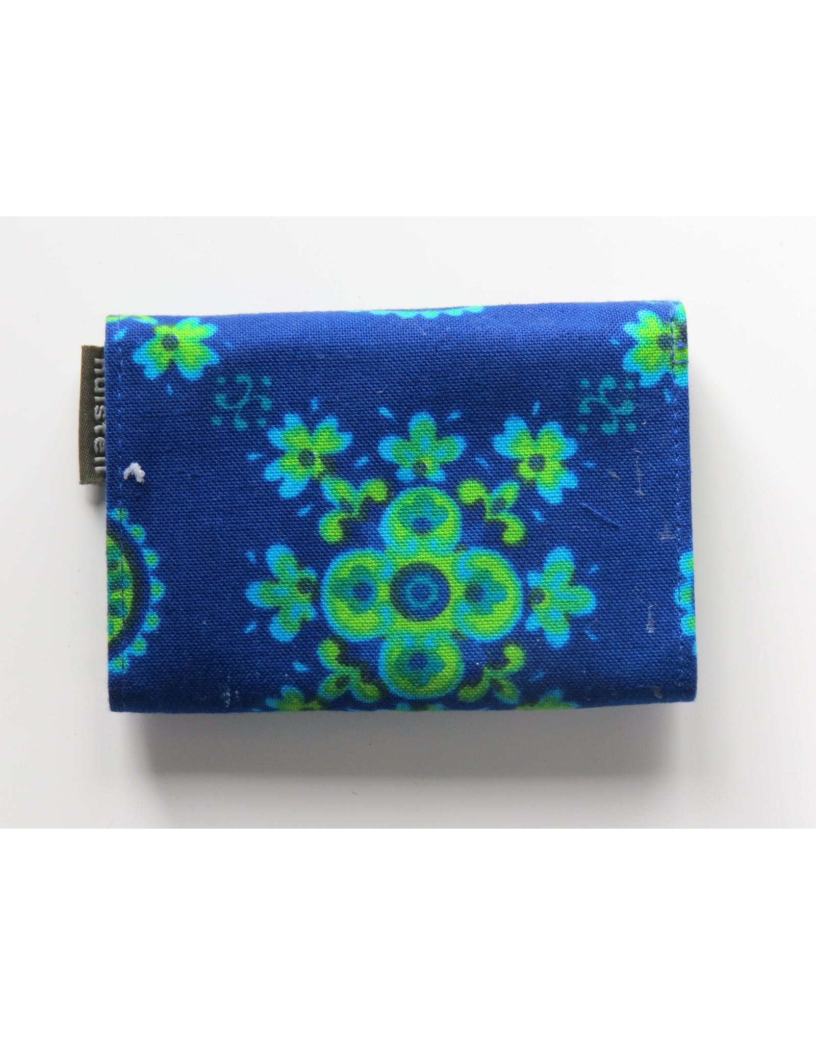 Huisteil Kleine retro portemonnee - blauw vintage