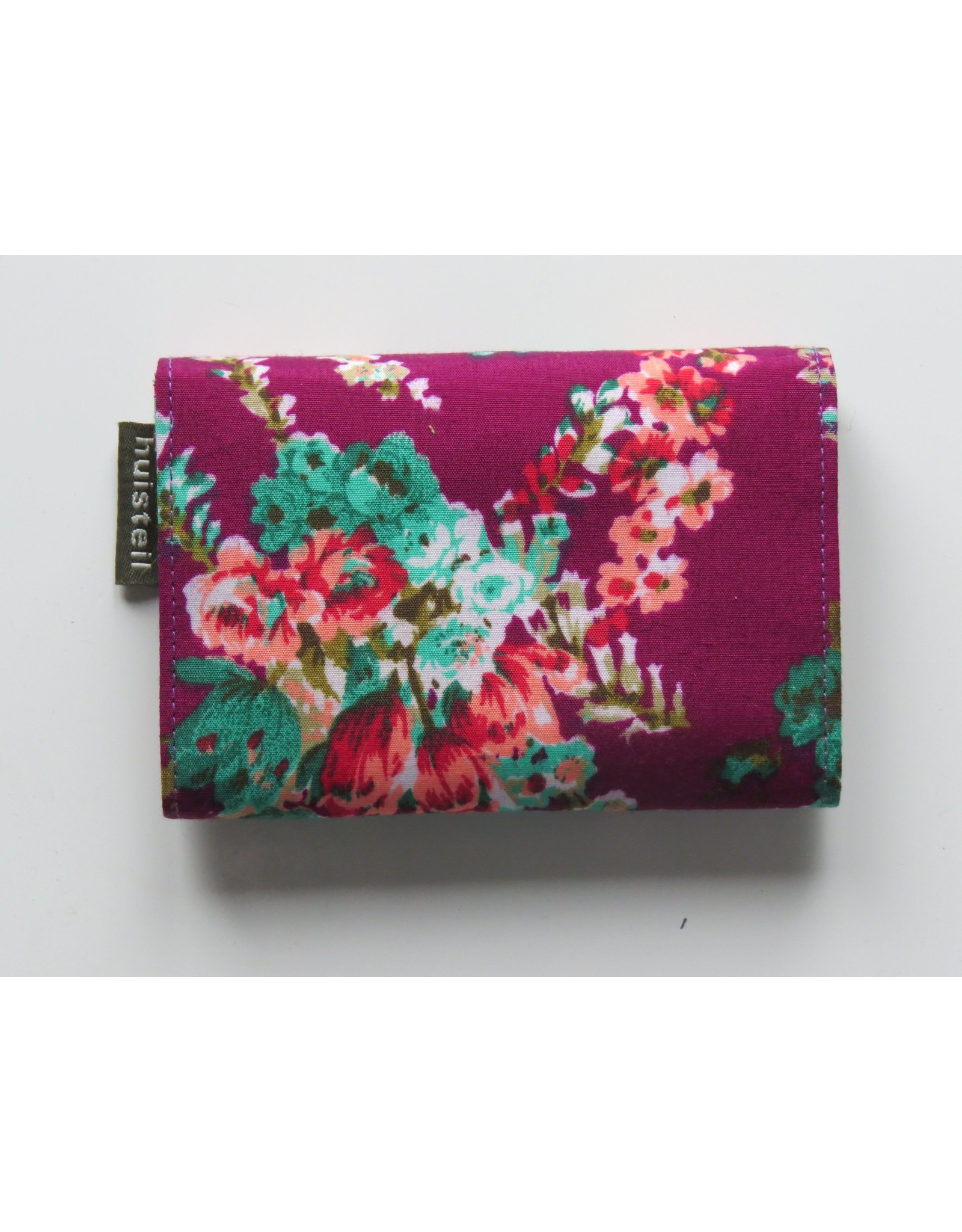 Huisteil Small retro purse - purple flowers
