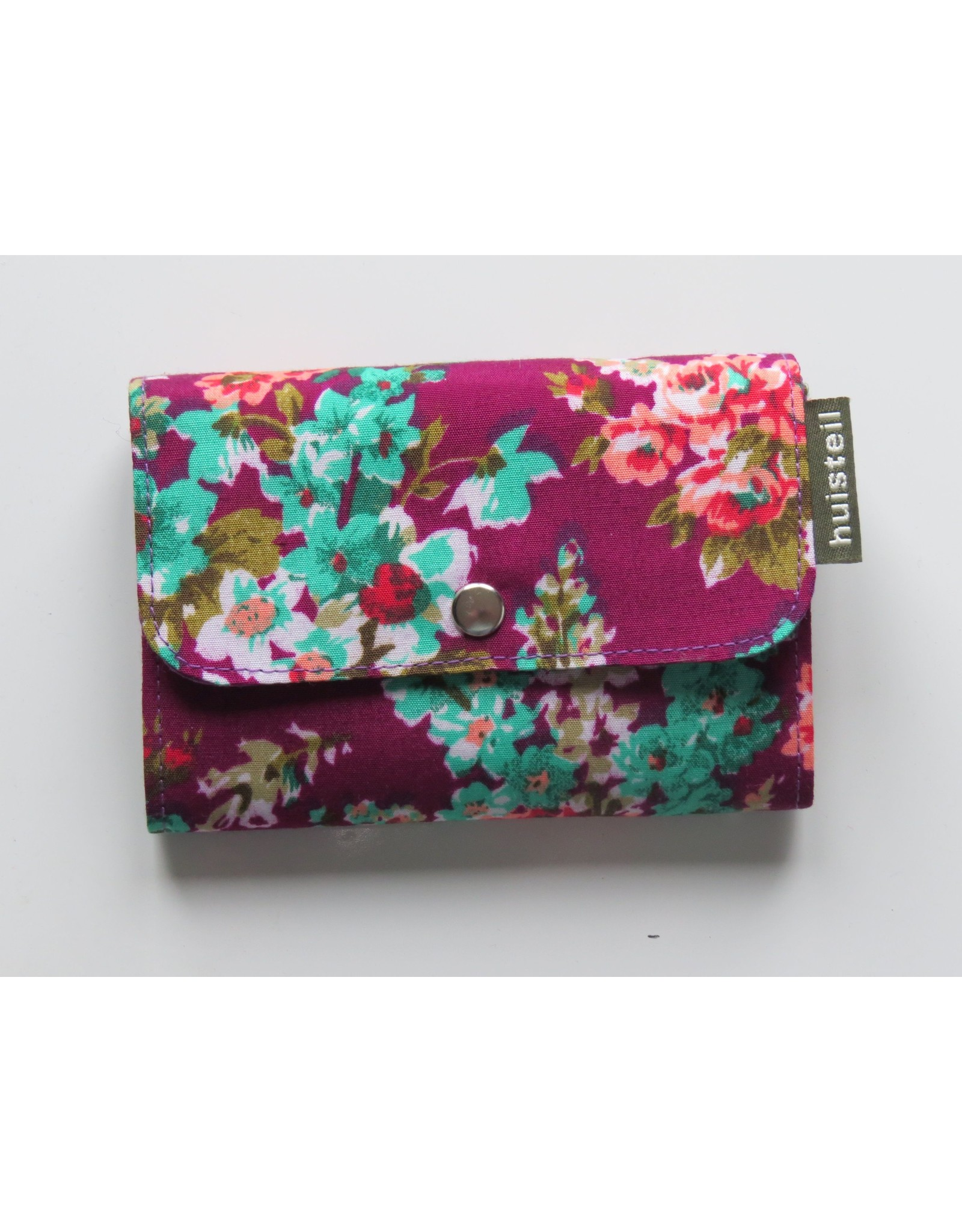 Huisteil Kleine retro portemonnee - paars gebloemd
