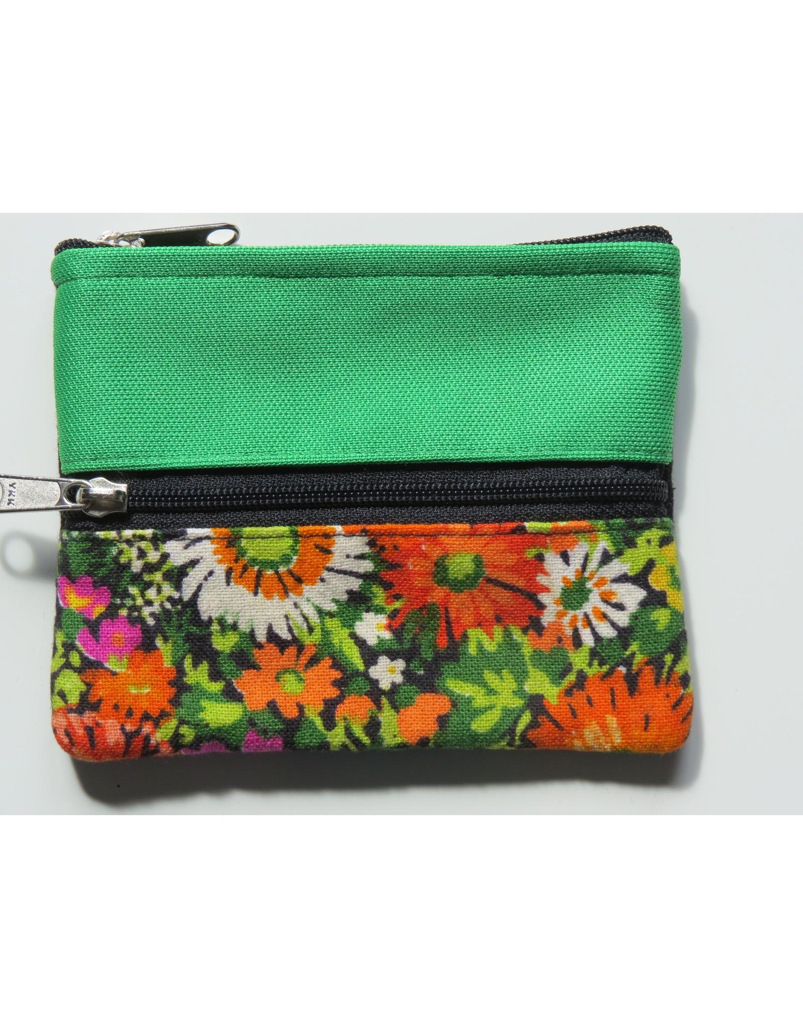 Huisteil Kleine vintage portemonnee - green