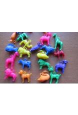 Kleine plastic diertjes (prijs per 20)