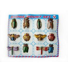 Vintage insecten broches (prijs per 12)