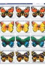 Vintage vlinder broches (prijs per 12)