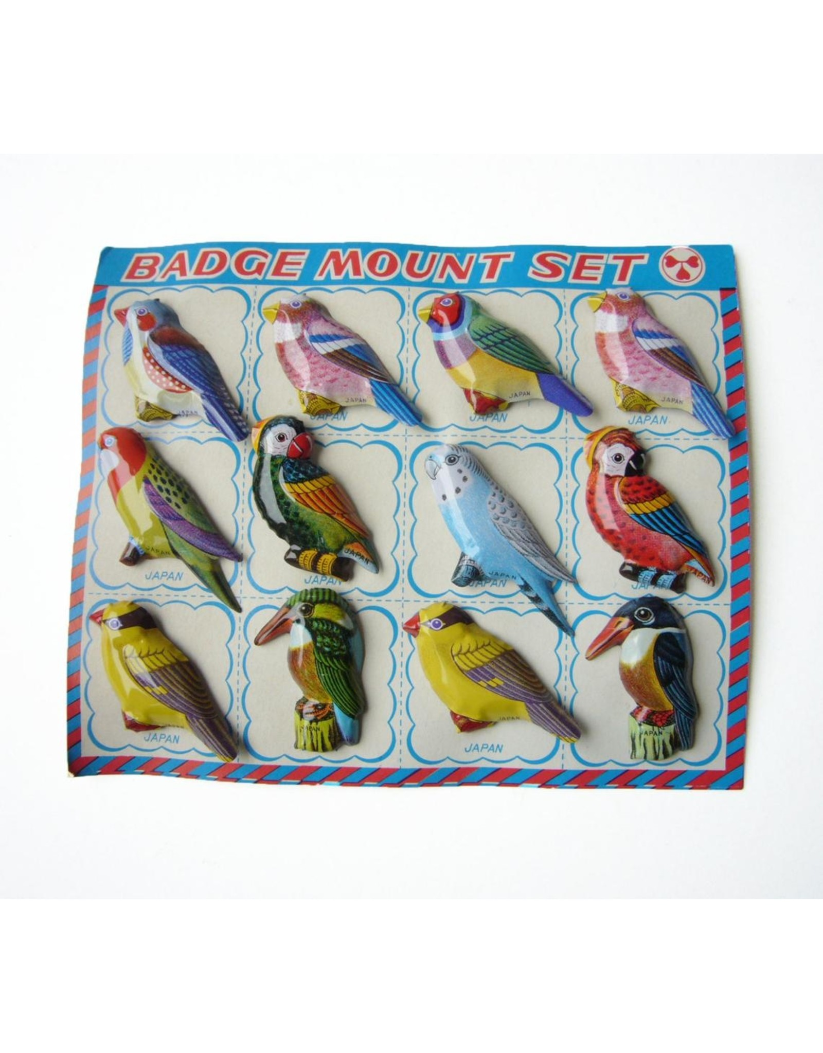 Vintage vogel broches (prijs per 12)