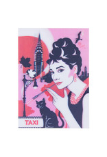 3d kaart - Audrey Hepburn