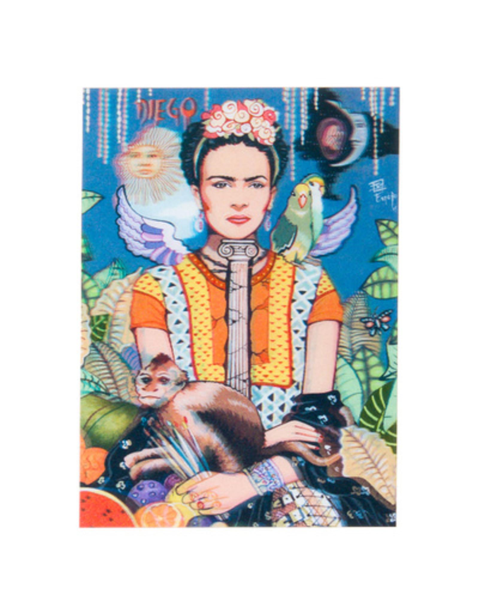 3D kaart - Frida Kahlo