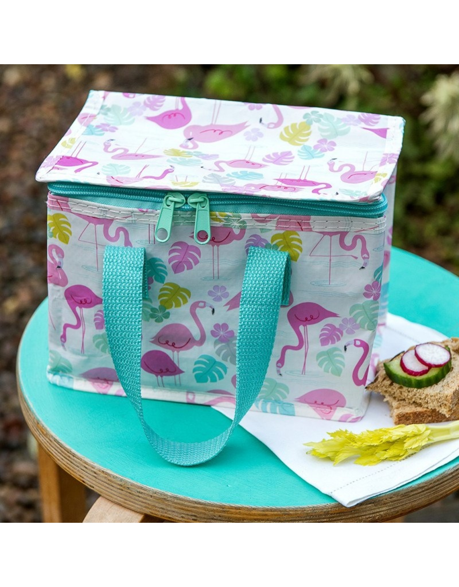 Rex London Kinder lunch bag - flamingo's