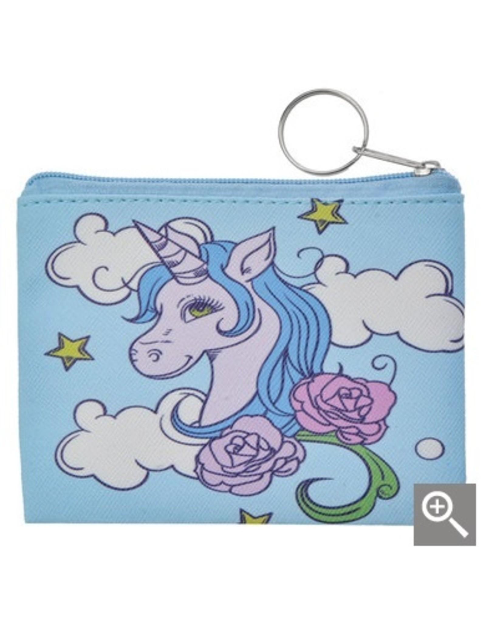 Clayre & Eef Kinder portemonnee - blauwe eenhoorn