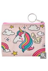 Clayre & Eef Kinder portemonnee - roze regenboog eenhoorn