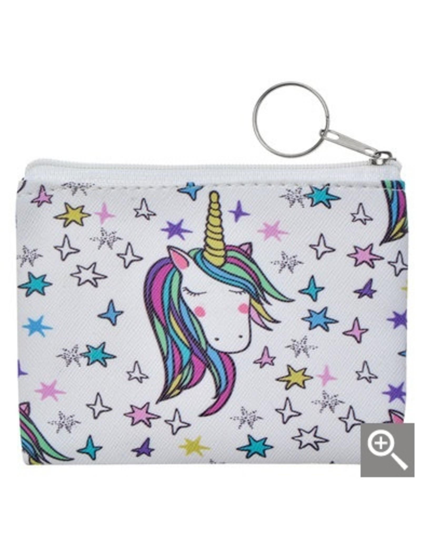Clayre & Eef Children's wallet - white unicorn