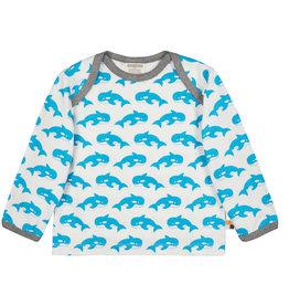 loud+proud Kinder shirt - blauwe walvissen