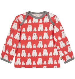 loud+proud Kids shirt - red polar bears