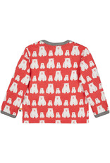 loud+proud Kinder shirt - rode ijsberen