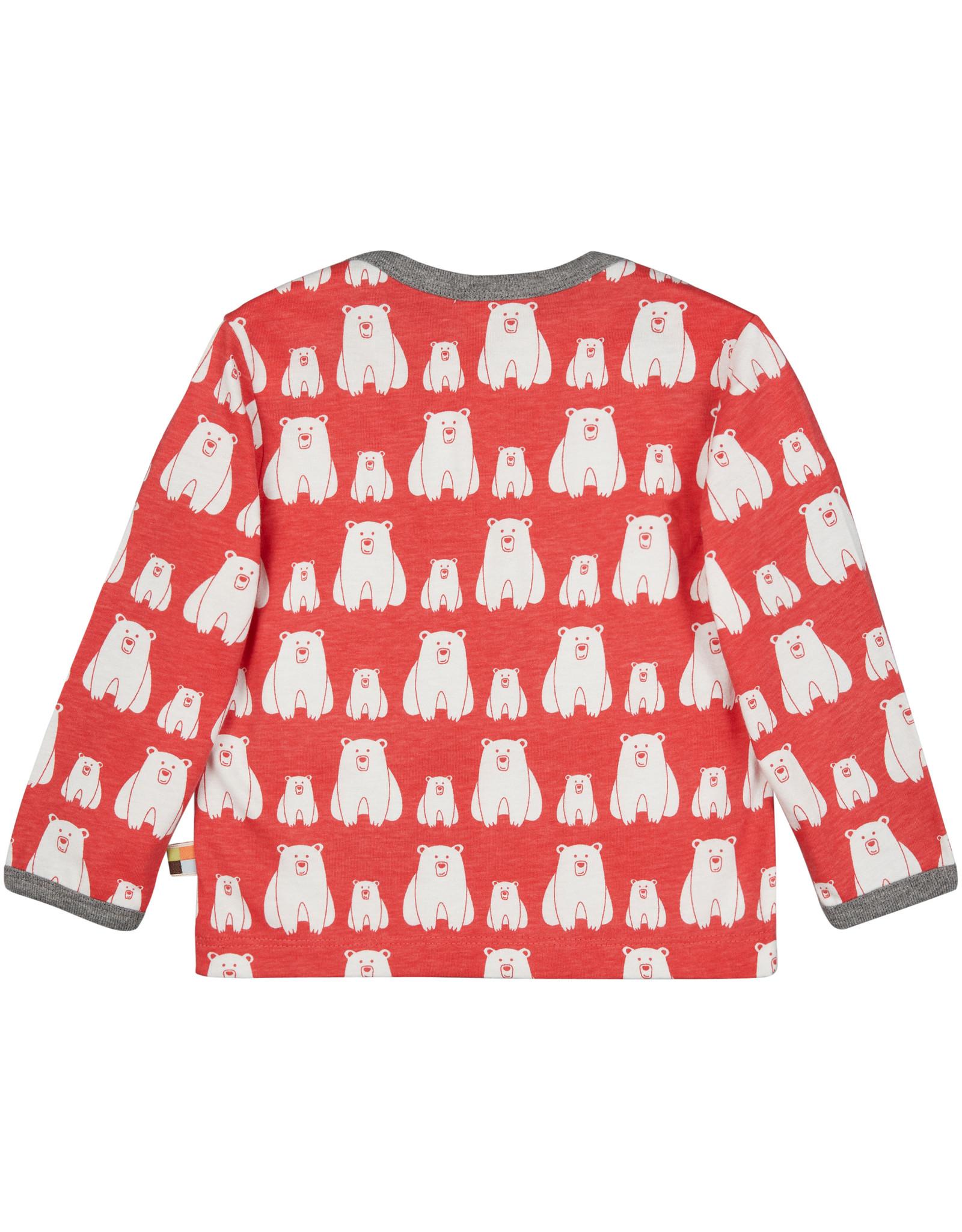 loud+proud Kids shirt - red polar bears