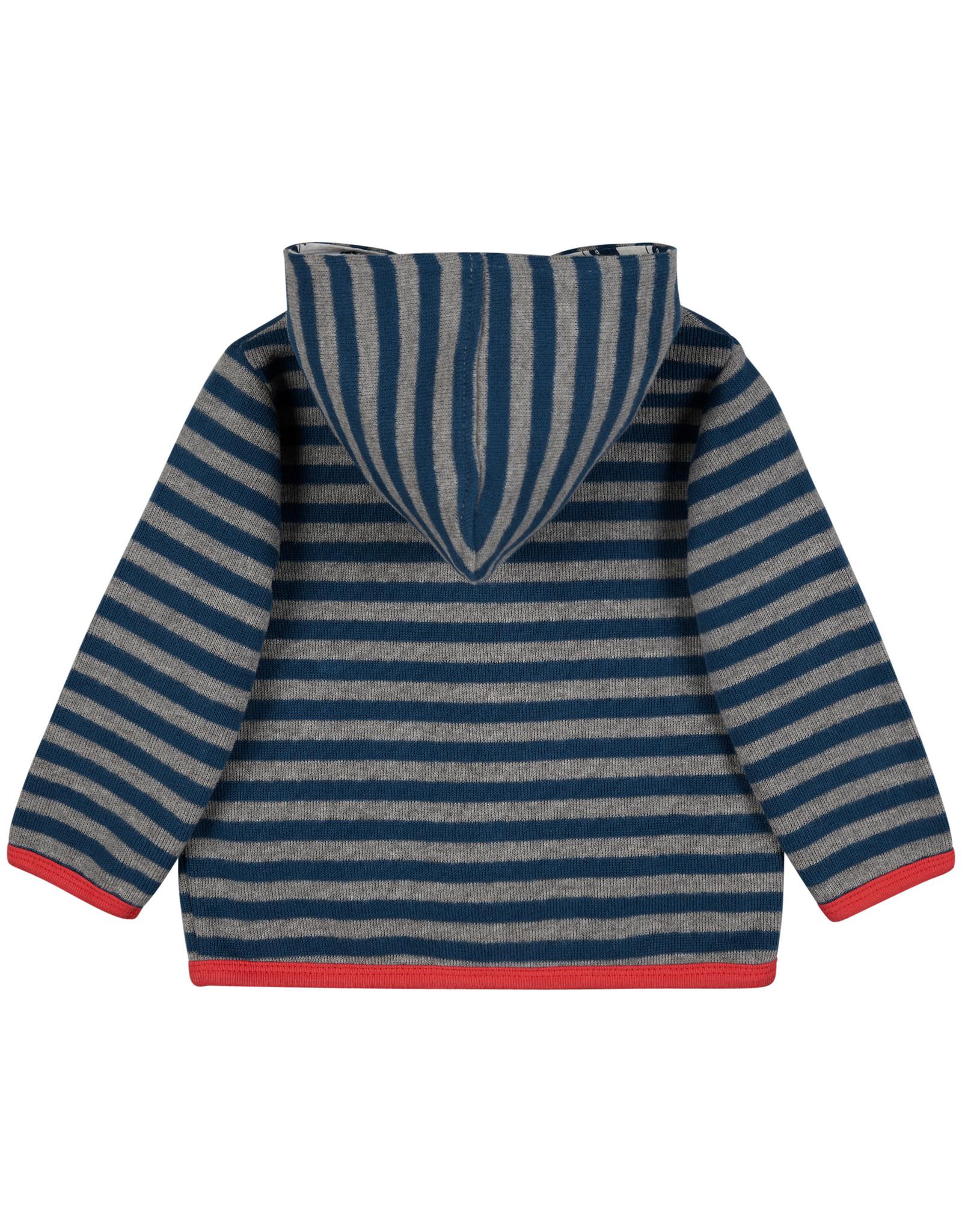 loud+proud Children's coat - blue grey striped