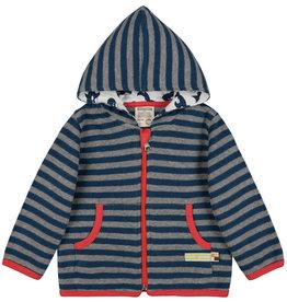 loud+proud Kindervest - blauw grijs gestreept