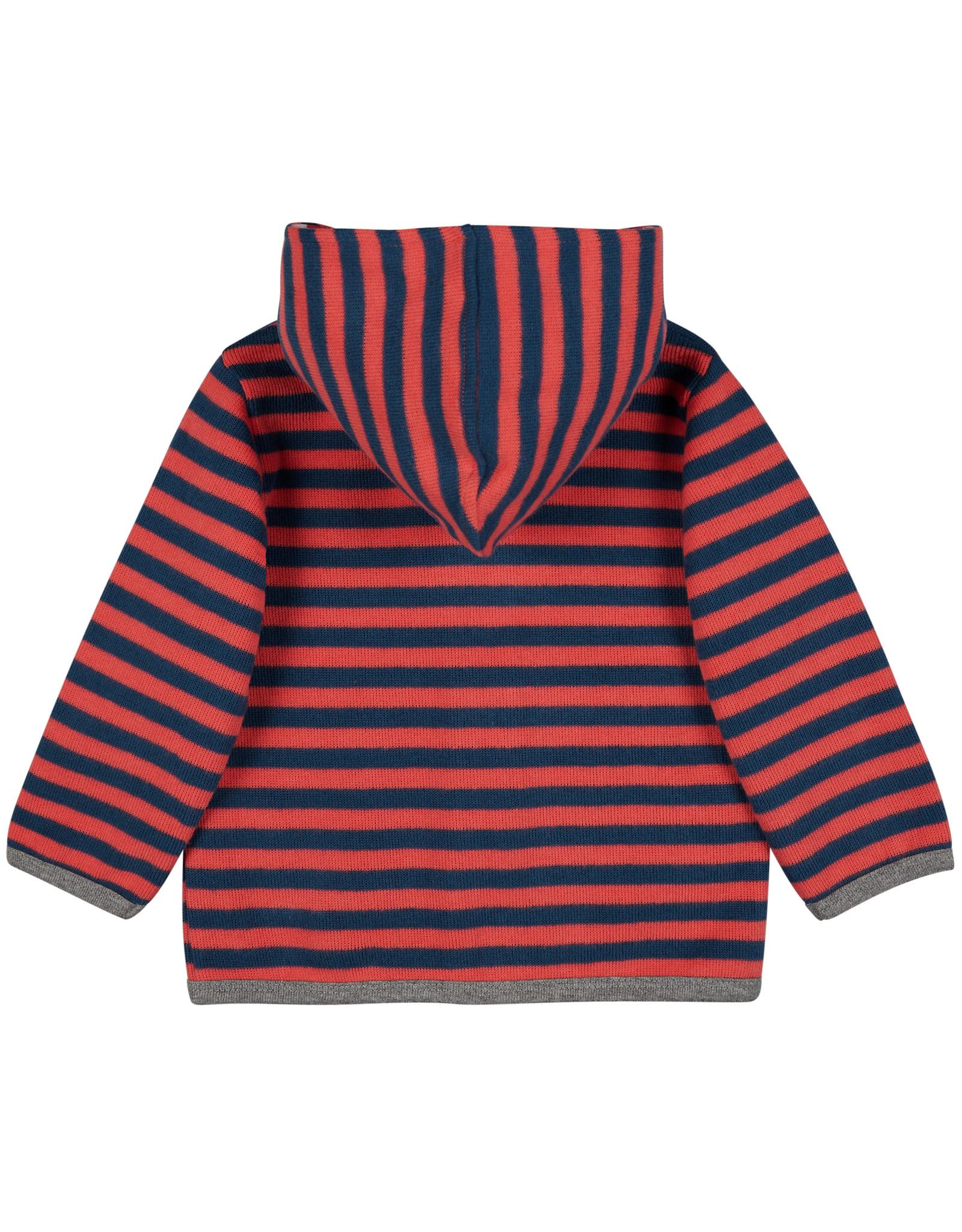 loud+proud Children's coat - red blue striped