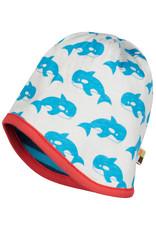 loud+proud Kinder mutsje - blauw met walvissen