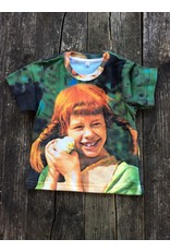 Pippi Langkous Children's tshirt - Pippi with chicken