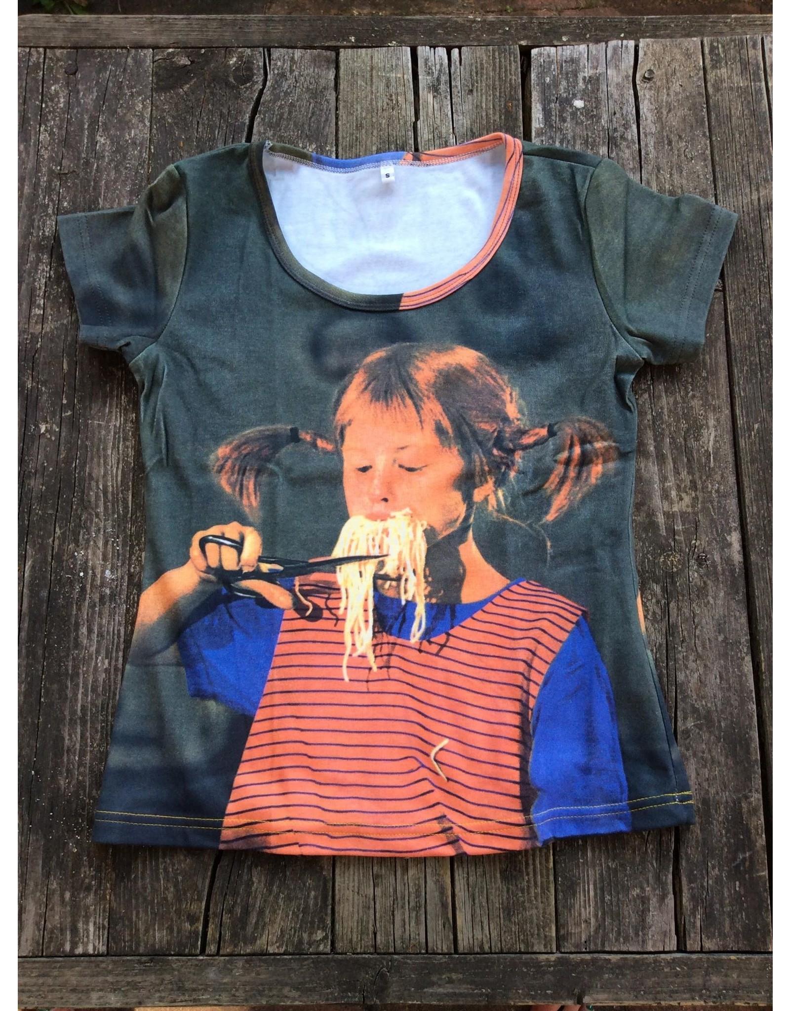 Pippi Langkous Adult tshirt - Pippi spaghetti