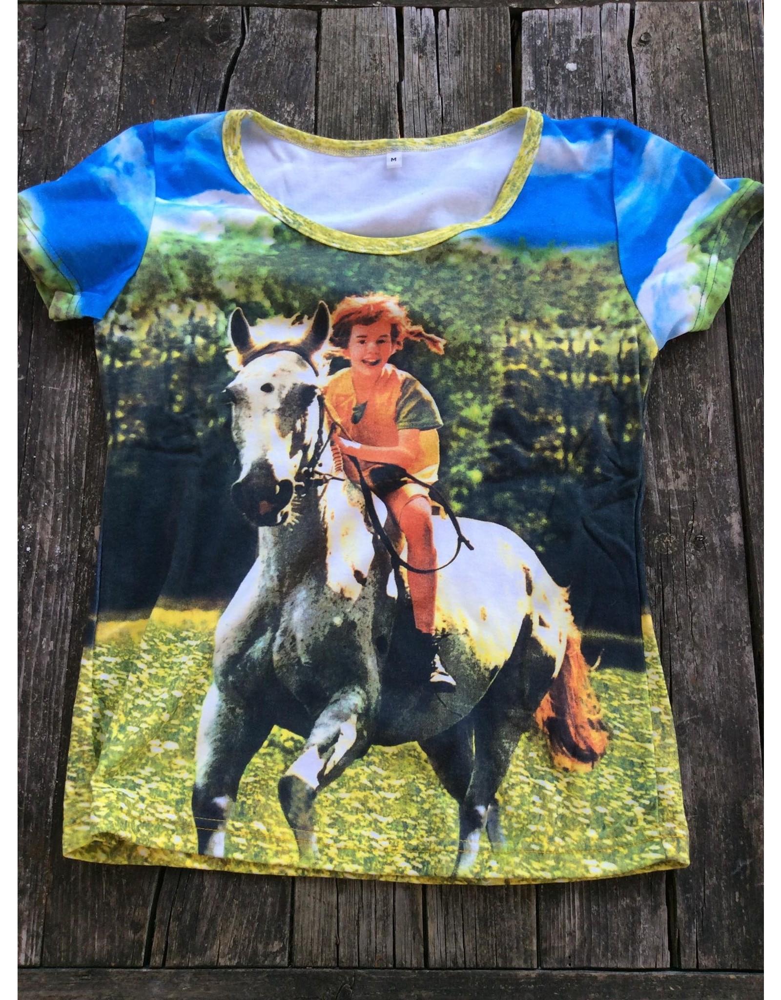 Pippi Langkous Volwassen t-shirt - Pippi en Witje