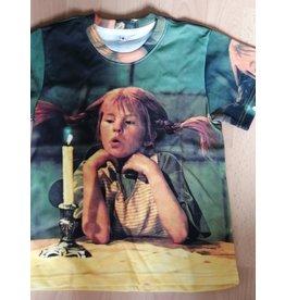 Pippi Langkous Kinder t-shirt - Pippi overpeinzingen