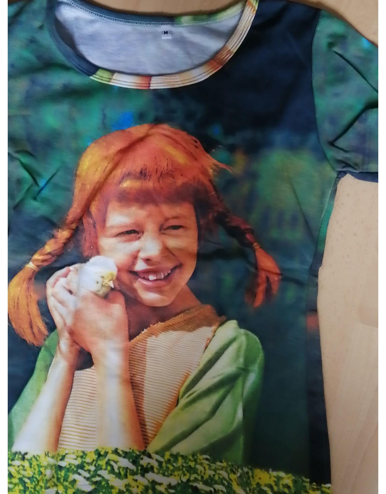 Pippi Langkous Adult tshirt - Pippi chicken