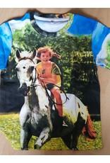 Pippi Langkous Kinder t-shirt - Pippi en Witje