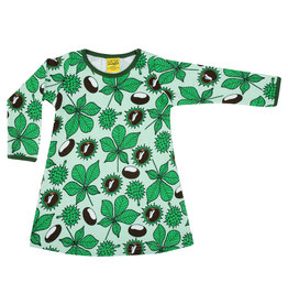 Duns Children's dress - green with chestnuts