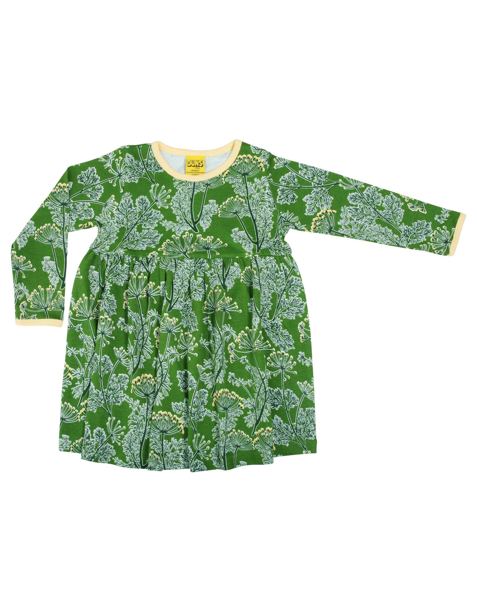 Duns Children's gather dress - green Dill
