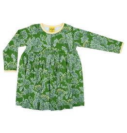 Duns Kinder 'zwier' jurk - groen dille