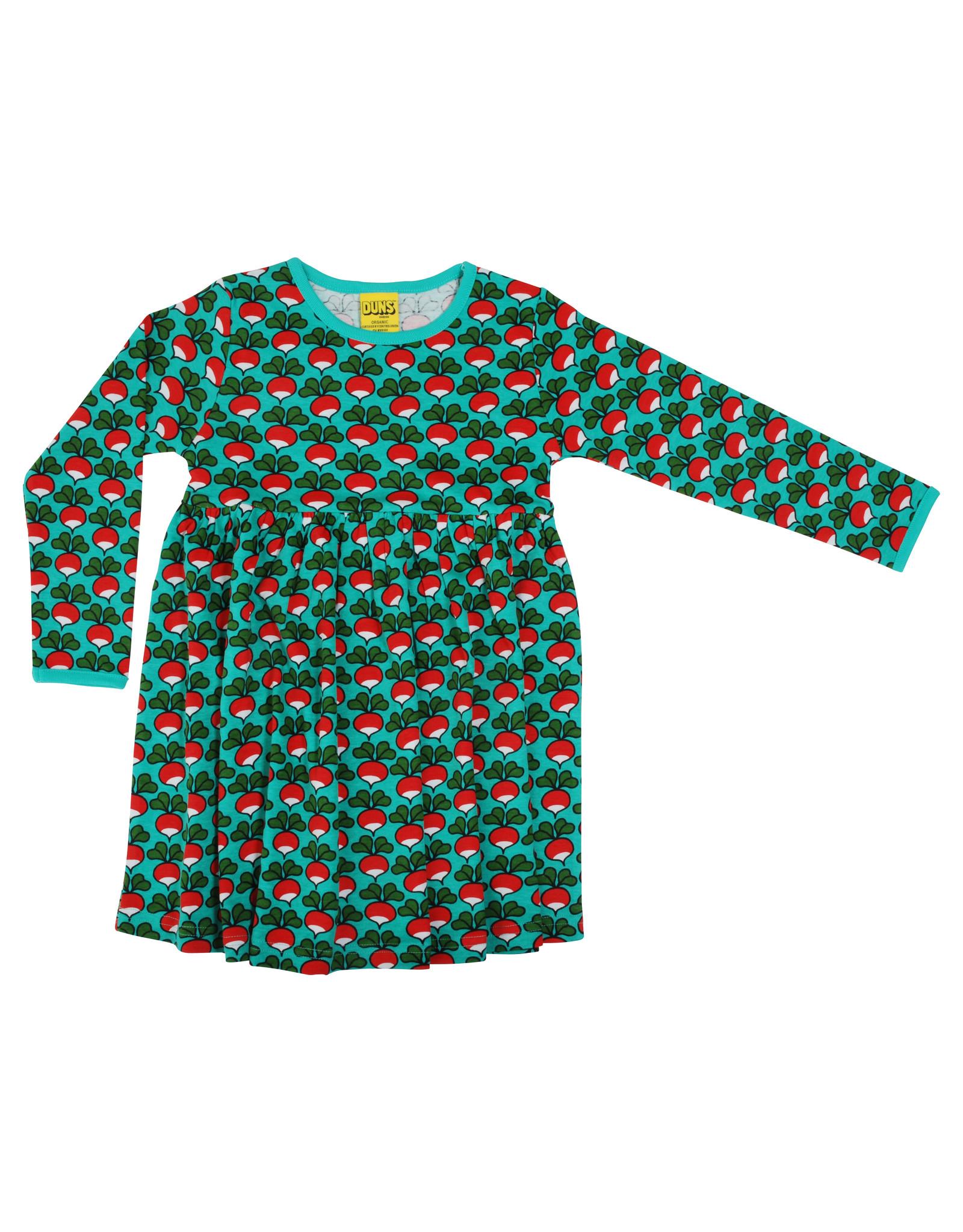 Duns Kinder 'zwier' jurk - radijsjes