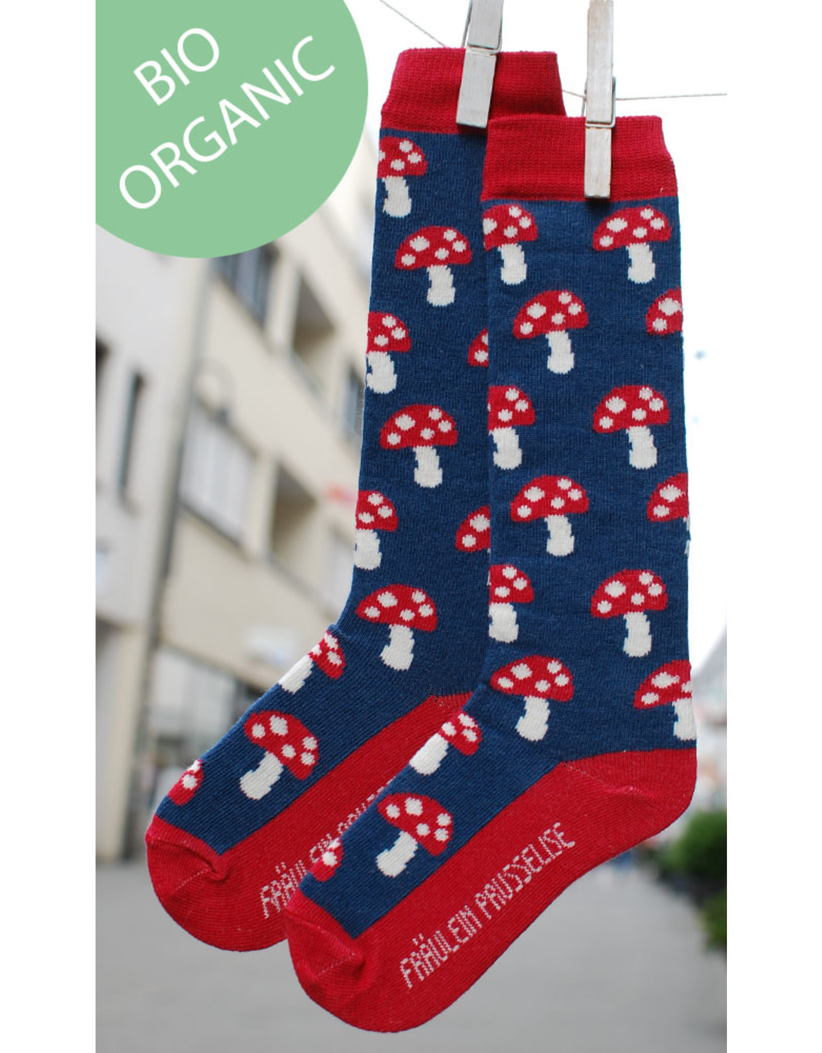 Fräulein Prusselise Children's knee socks - mushrooms