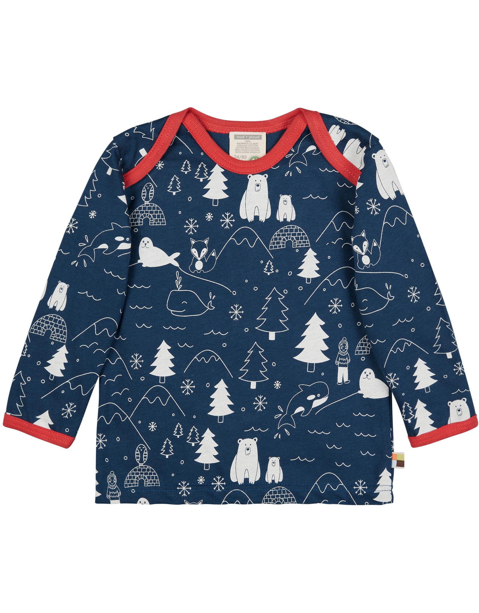 loud+proud Kids shirt - blue winter