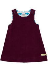 loud+proud Winter dress - purple with whales
