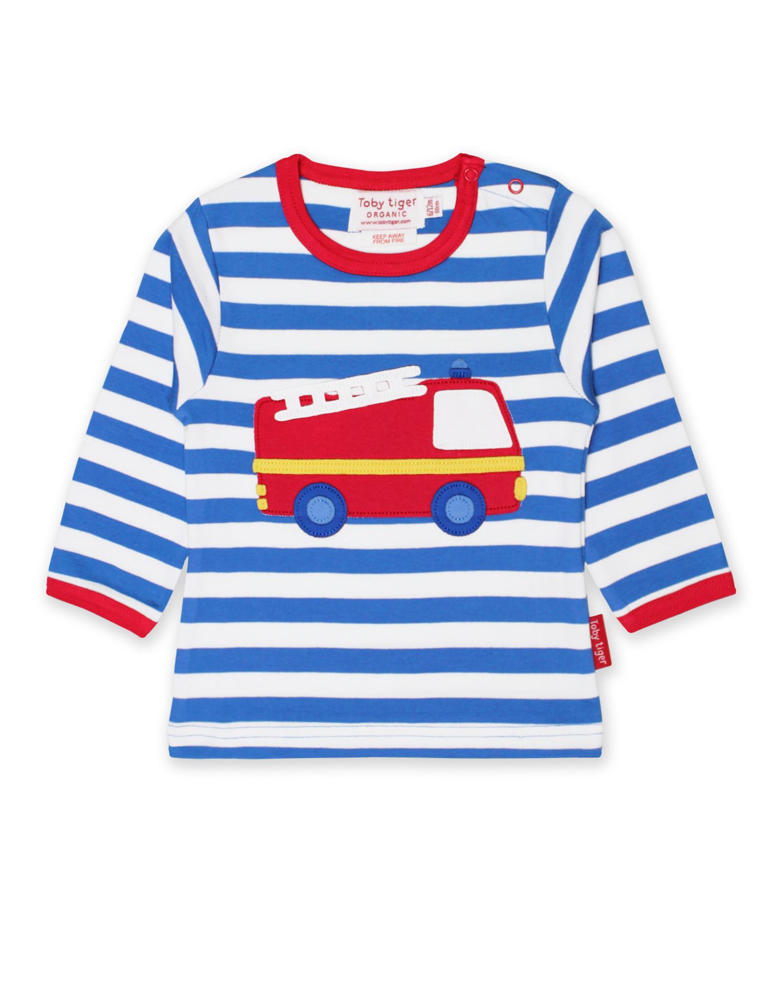 Toby Tiger Kids shirt - fire truck