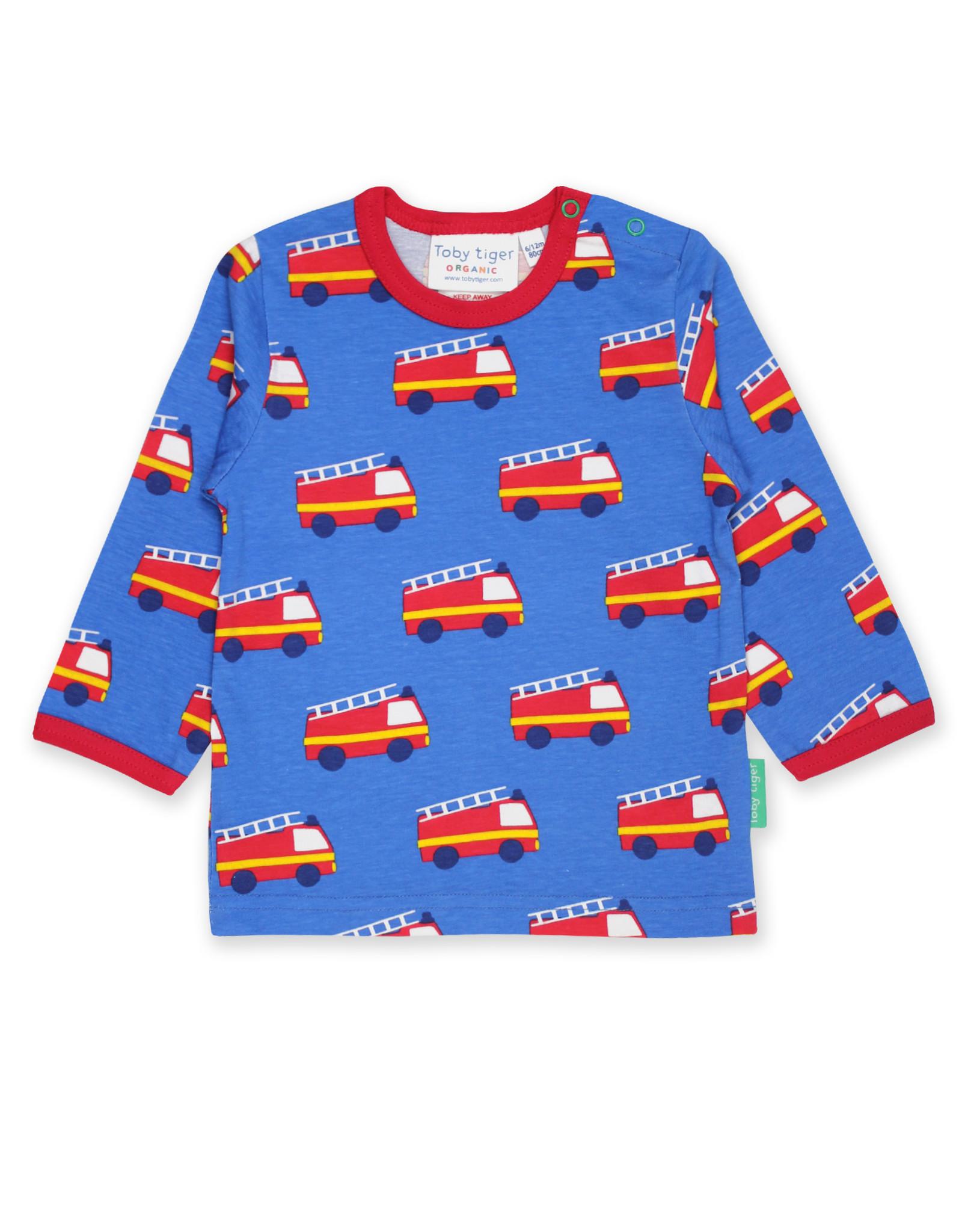 Toby Tiger Kinder shirt - brandweer auto's