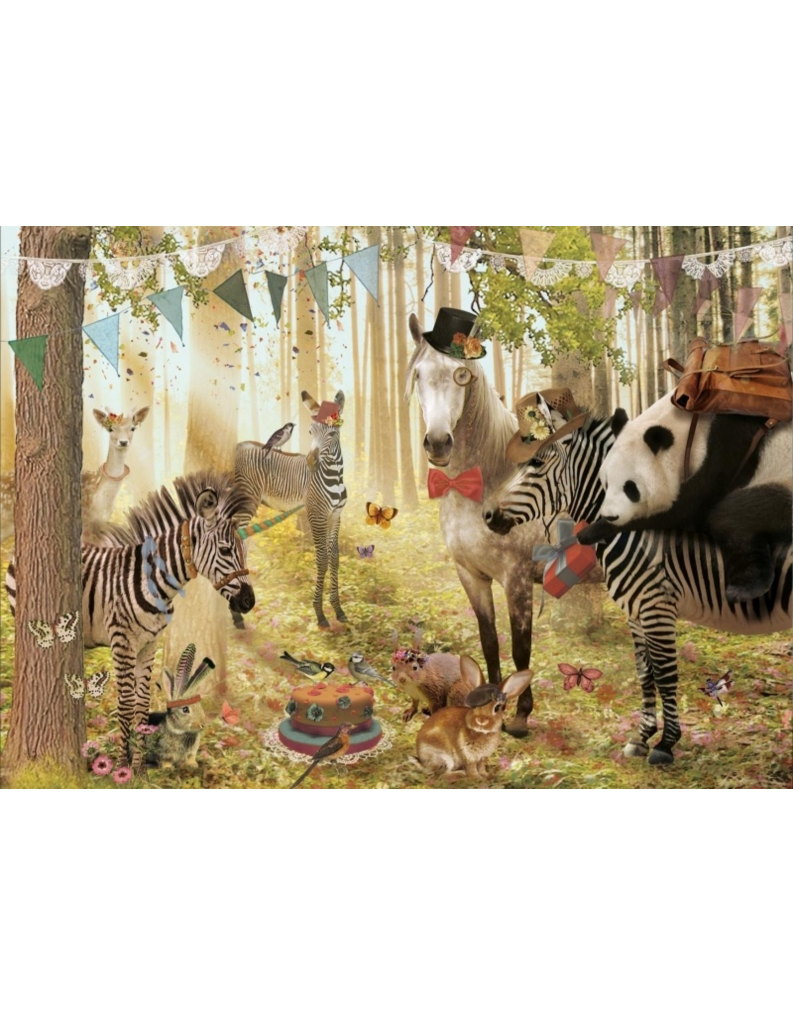 Postcard - party in the forest