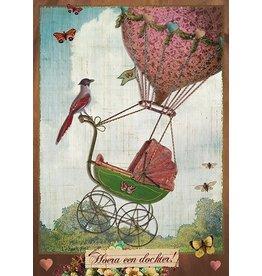 Postcard - hurrah a daughter
