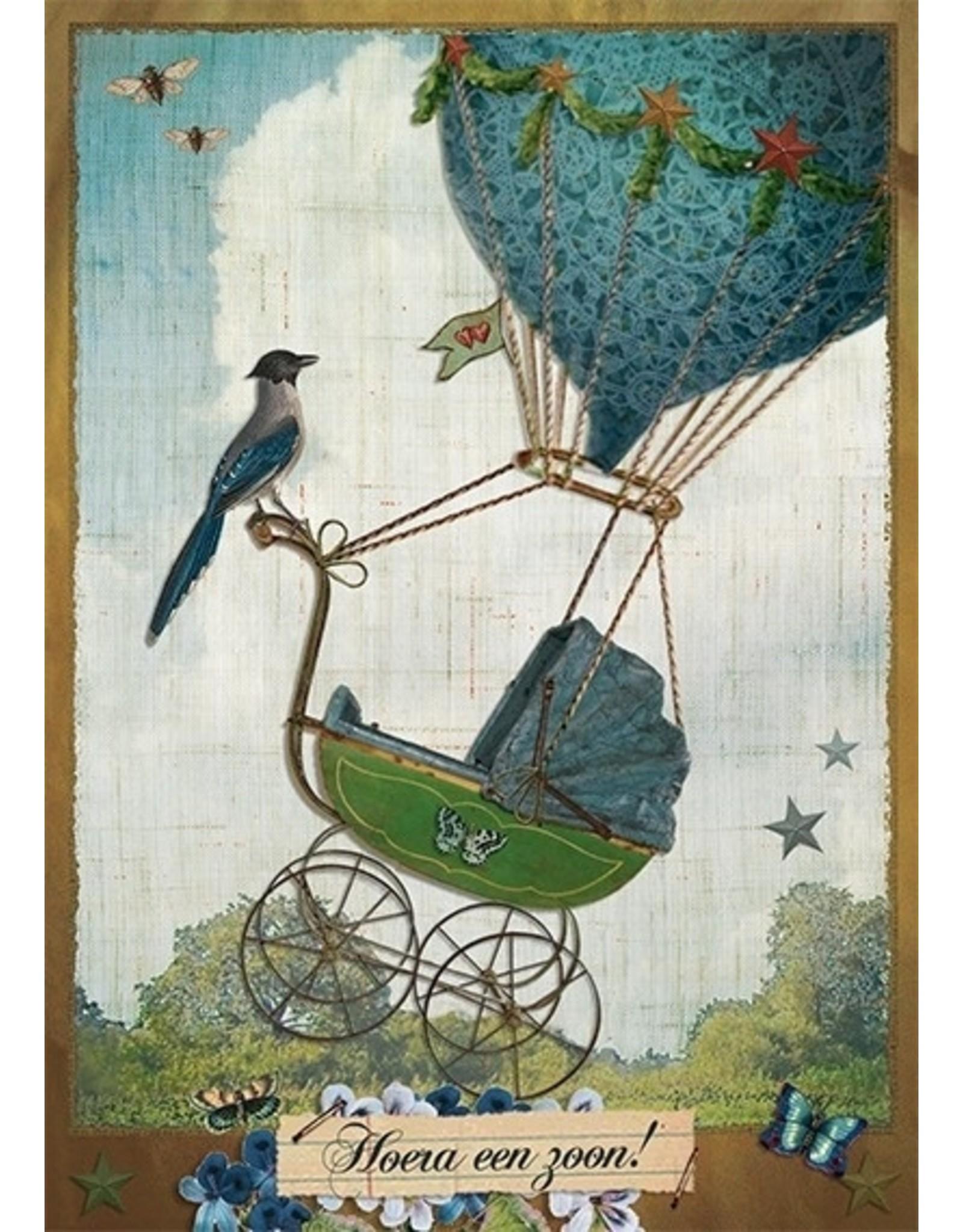 Postcard - hurrah a son