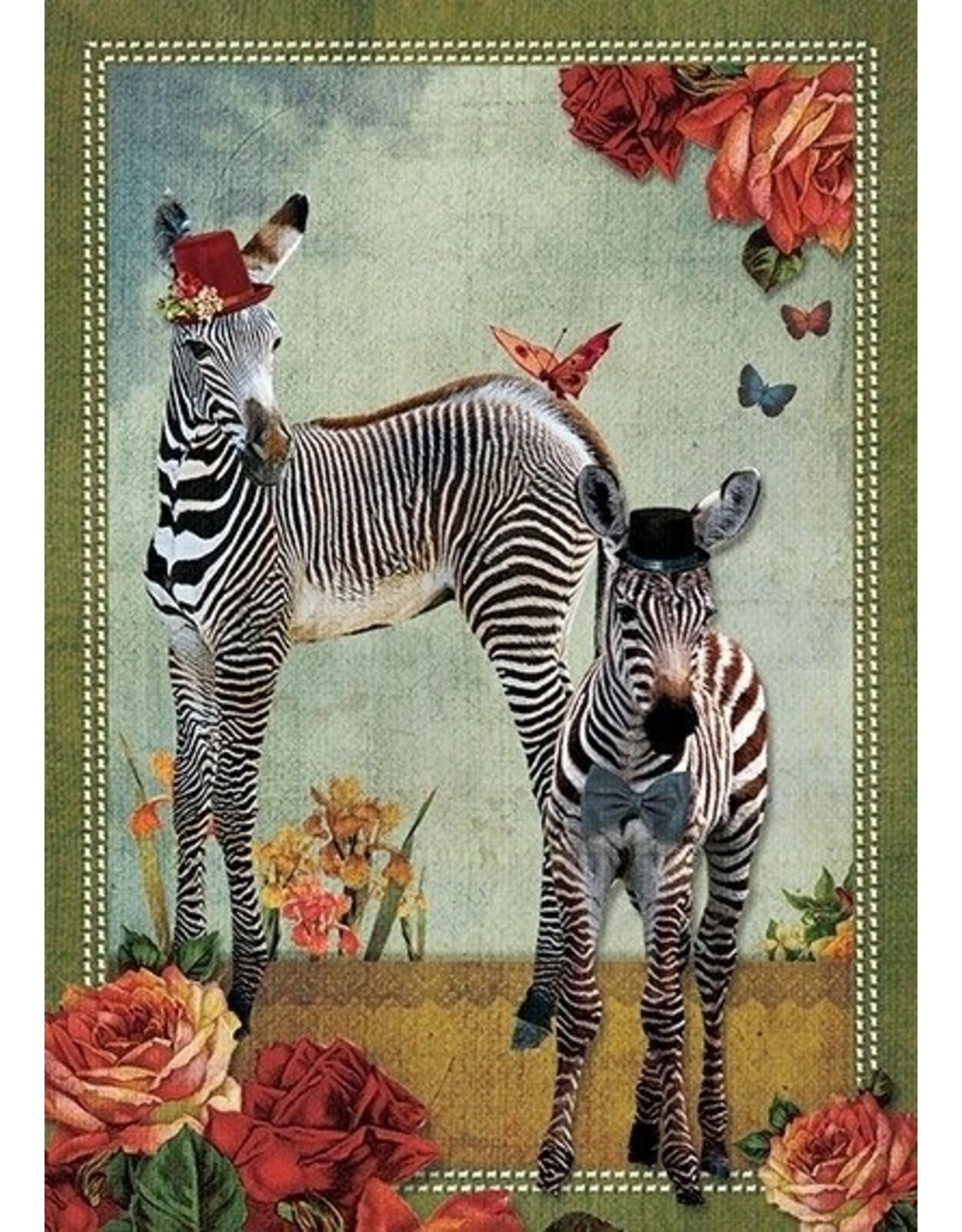 Postcard - zebra's