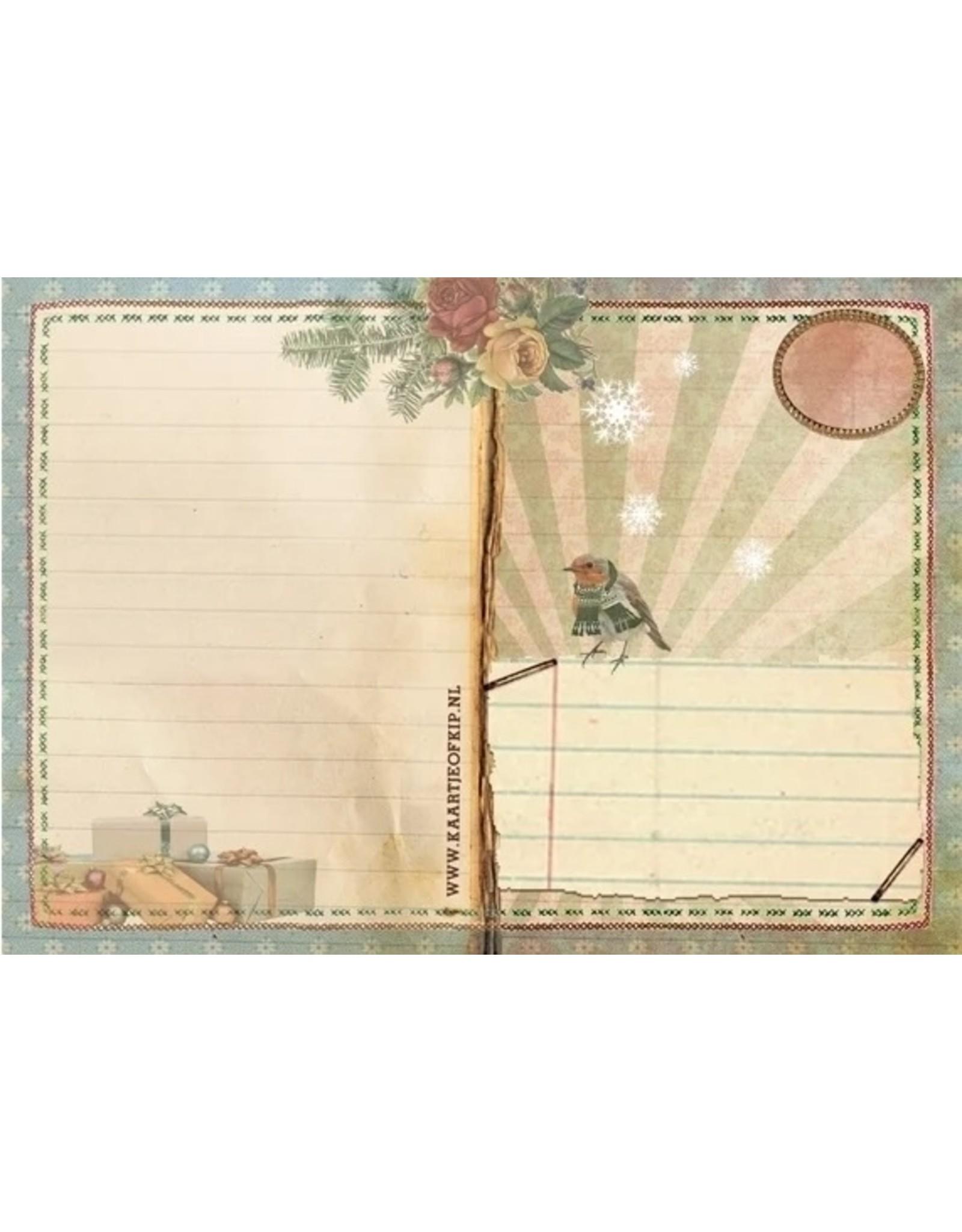 Christmas card - chipmunks
