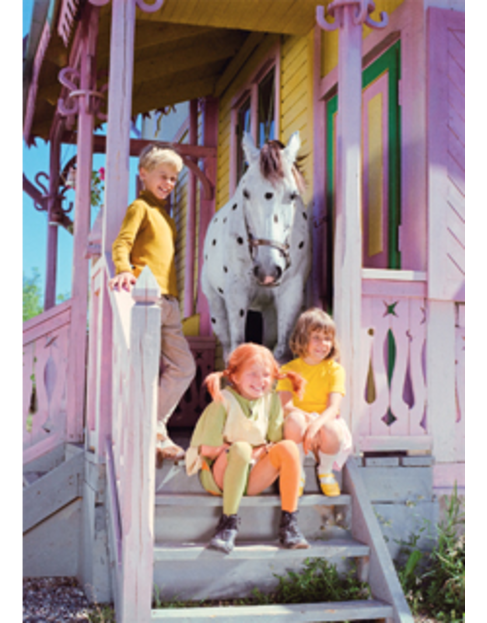 Pippi Langkous Pippi Longstocking card - on the stairs