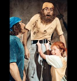 Pippi Langkous Pippi Longstocking card - lifting pirate