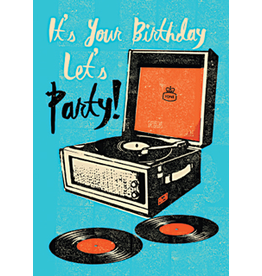 Birthday card - let's party!
