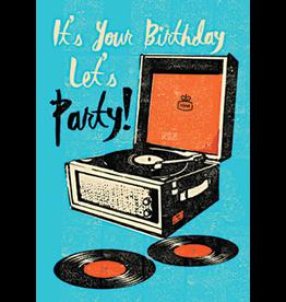 Verjaardagskaart - Let's party!