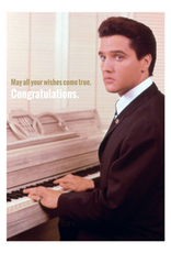 Elvis Presley card - congratulations