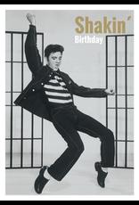 Elvis Presley card - shakin' birthday