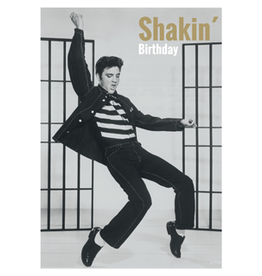 Elvis Presley card - shakin' birthday